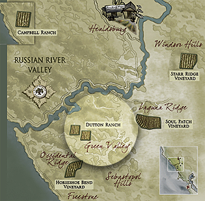 Dutton Ranch highlighted within Russian River Valley